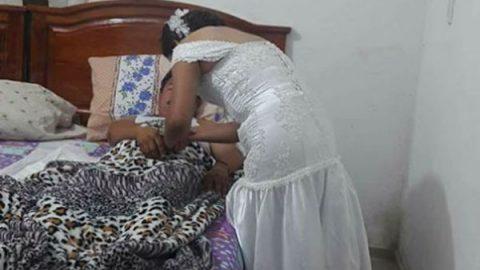 Enfermera abandona su boda por ir atender a paciente