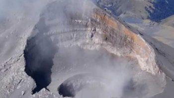 Hallan segundo cráter dentro del volcán Popocatépetl