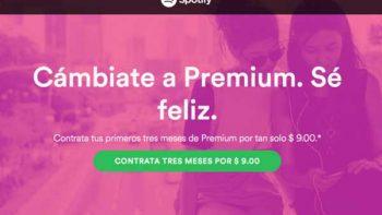 Spotify ofrece tres meses de servicio por 9 pesos en 'Black Friday'