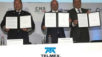 Firma TELMEX convenio en Ciberseguridad con Policía Federal