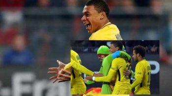 Aficionados disfrazados de 'Tortugas Ninja' celebran con Mbappé