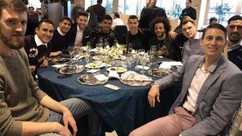 Gustavo Ayón y Cristiano Ronaldo juntos en cena del Real Madrid