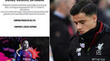 Nike anuncia a Coutinho en Barcelona; después elimina información