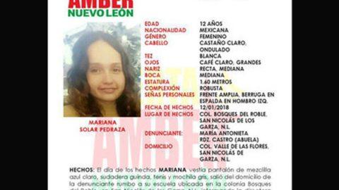 Localizan en Reynosa a niña desaparecida en San Nicolás