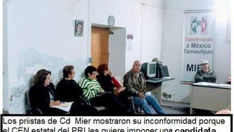 Rebelión de priista contra el CEN en Ciudad Mier