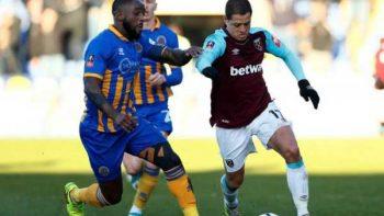 West Ham y 'Chicharito' se van sin goles en FA Cup