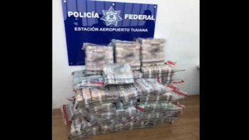 Caen dos con 90 millones de pesos en aeropuerto de Tijuana