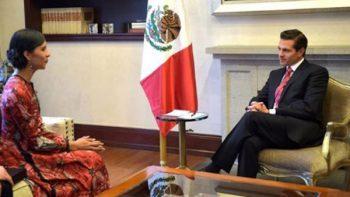 Peña Nieto recibe en Los Pinos a la bailarina Elisa Carrillo
