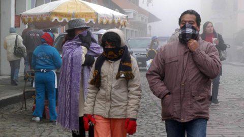 Azotan las bajas temperaturas a gran parte del país