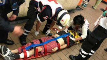 Hombre recibe golpe al asomar la cabeza en túnel del Metro
