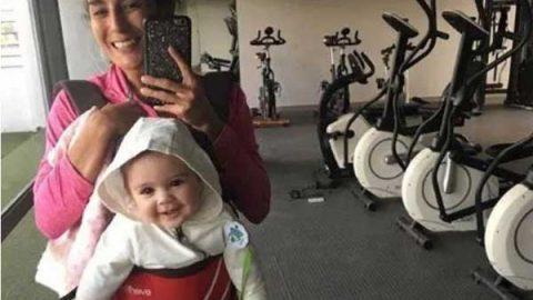 Paola Espinosa entrena con su hija
