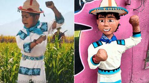 Llegó la piñata del 'Movimiento Naranja' a Reynosa