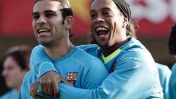 Rafa Márquez se despide de Ronaldinho