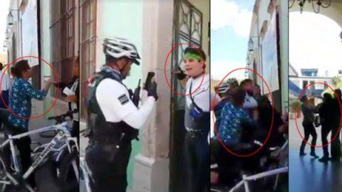 Detienen a madre e hijo por presunta agresión en Aguascalientes (VIDEO)