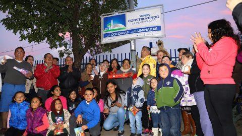 Inauguran red de alumbrado público en Col. Constituyentes de Querétaro 2° Sector