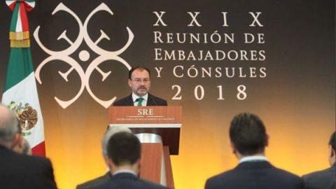 Videgaray pide a embajadores y cónsules imparcialidad en elecciones