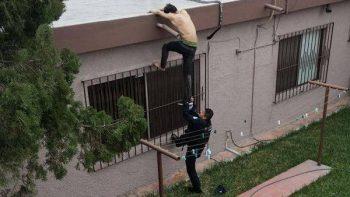 Ladrón es detenido tras ser perseguido sobre azoteas de casas
