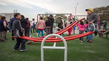 Entrega Monterrey Parque Rehabilitado en la colonia Croc