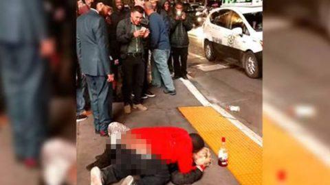 Abusan sexualmente de mujer en plena calle de Las Vegas (VIDEO)