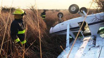 Se desploma avioneta Cessna en aeropuerto de Morelia