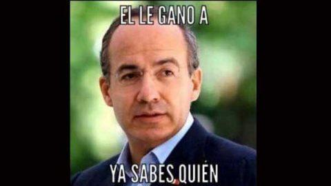 Calderón comparte meme de su triunfo sobre AMLO