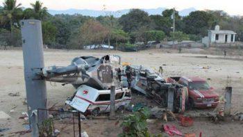 Desplome de helicóptero en Oaxaca tras sismo fue captado en video