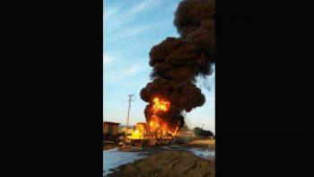 Laboran bomberos en explosión de ducto de Pemex en Hidalgo