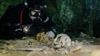 Hallan esqueleto de 10 mil años en el cenote más grande del mundo