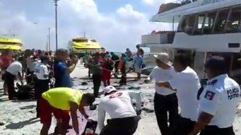 Explosión en ferry en Playa del Carmen deja al menos 12 heridos