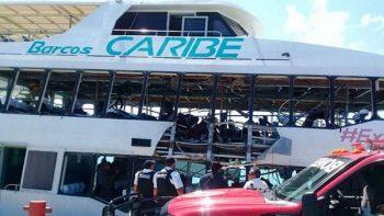 Vinculan a empresa de ferry que explotó en Playa del Carmen con Borge