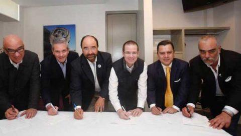 Frente firma acuerdo político con Iniciativa Ahora