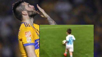 Hijo de Gignac juega futbol como su padre