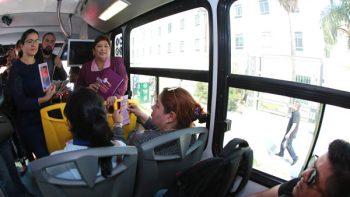 Inicia Instituto Estatal de las Mujeres campaña en transporte urbano