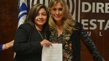 Maki Ortiz se registra  por la alcaldia de Reynosa