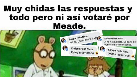 Peña Nieto responde en Facebook, pero ni así votarán por Meade