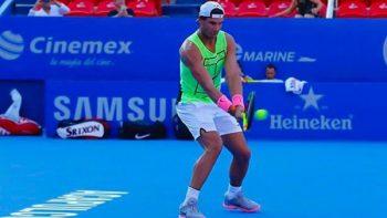 Rafael Nadal ya entrena en Acapulco