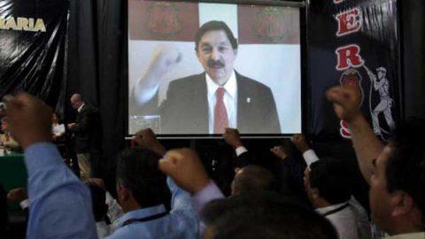 Pide Gómez Urrutia a mineros apoyar a AMLO y a su proyecto de nación
