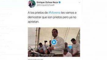 Comentario sobre los 'prietos de Morena' mete en aprietos a Ochoa