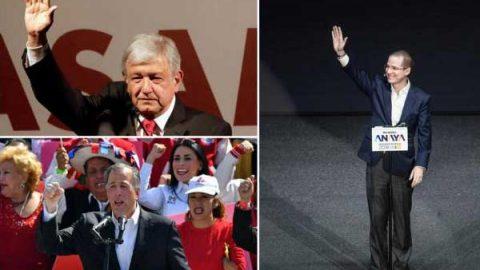 AMLO, Meade y Ricardo Anaya ya son candidatos presidenciales