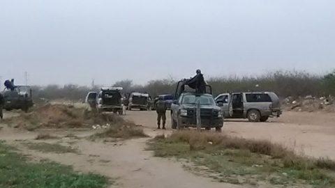 Tras enfrentamiento decomisan ocho camionetas con armas y granadas