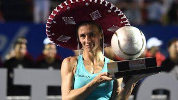 Lesia Tsurenko se corona bicampeona en el Abierto Mexicano de Tenis