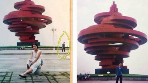 Esposos se tomaron una foto en el mismo lugar, 11 años antes de conocerse