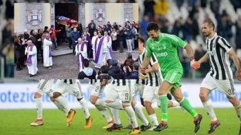 Buffon pagó el avión de la Juventus para asistir al funeral de Astori