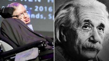 Hawking y Einstein, las extrañas coincidencias en sus vidas