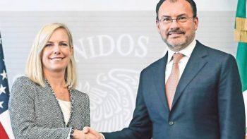 Droga no debe ir a EU, ni armas a México: Nielsen