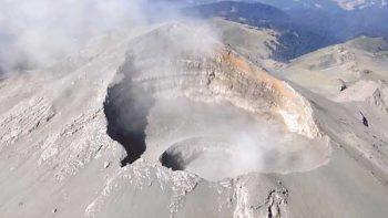 Localizan nuevo domo en el cráter del Popocatépetl