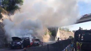 Reabren carril de carretera Chamapa-La Venta, tras accidente