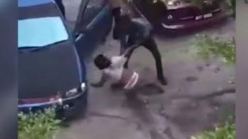 Mujer es atacada brutalmente a machetazos por su esposo (VIDEO)
