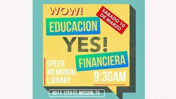 Anuncian taller de educación financiera