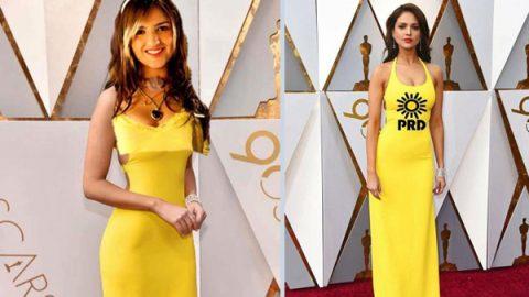 Eiza González y la polémica por el vestido amarillo